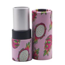 Embalagem de maquiagem de tubo de papel de batom de marca privada vazia