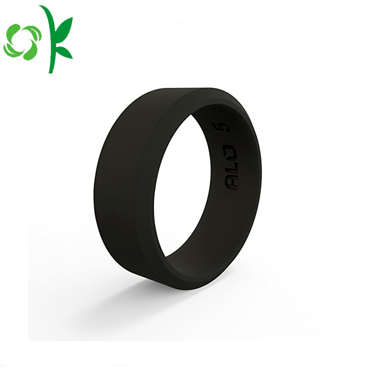 Black Custom Silicone Ring