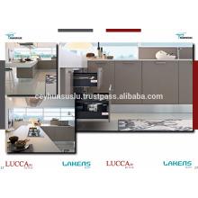 Лучшее качество дешевой цене кухонный шкаф с мягкого касания двери ПВХ на МДФ