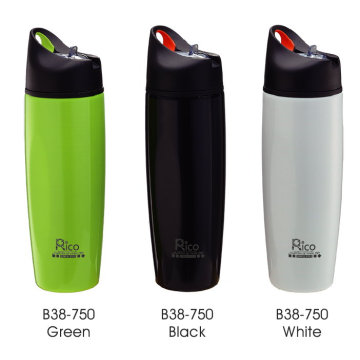 Stainless Steel Single Wall Sports Bottle with Straw