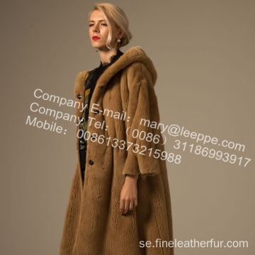Mink Reversible Women Coat In Winter För Lady