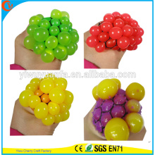 Hot Selling Novelty TPR Squeeze Light Mesh Ball