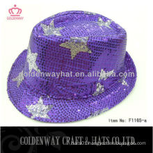 2013 Newest sequin fedora hat Purples