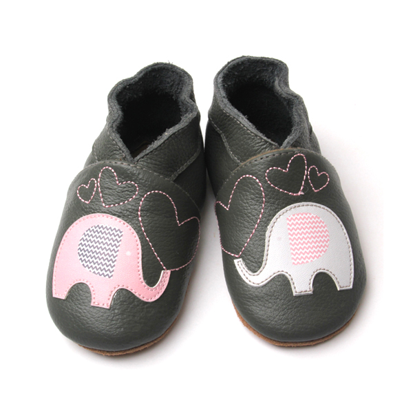 Animal Pattern Elephant Genuine Leather Soft Baby Shoes Fancy