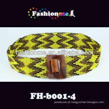 Fashionme 2013 nova tendência elástica correia frisada