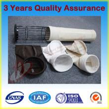 Fieltro de aguja no tejido Bolsa de filtro de polvo compuesto de fibra de vidrio para colector de polvo