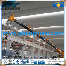 best Hydraulic telescopic Boom Marine Crane with remote control