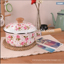 korean porcelain milk pot with flower decal