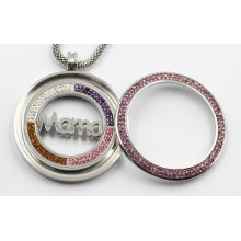316L Stainless Steel Locket Pendant with Mana Coin Inside for Gift