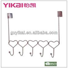 Crochet de porte en forme de coeur avec 5 supports