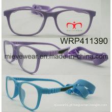 Nova borracha de moda de acabamento de borracha templo crianças óculos Eyewearframe moldura óptica (wrp411390)
