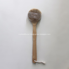 Cepillo de ducha de cuerpo de bambú vegano de piel seca