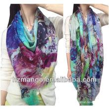 2016 Модная женщина 100% Модальная цифровая печать Infinity scarf