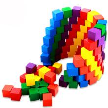 FQ marque enfants drôles enfants domino cube jouets en bois blocs de construction
