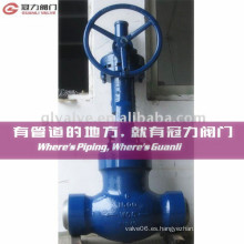 Bevel Gear Op. Globe Valve of Wcb & Ss Body