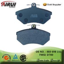 non-asbestos , semi-metallic/ceramic/low-metallic, hot sales auto parts Chinese manufacturer 8E0 698 151 /D780