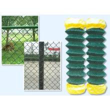 Chenils enduits de PVC de chien de lien de chaîne / panneaux de chien / clôtures de chien