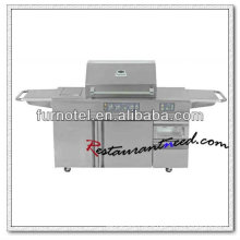 K239 5 Burners Barbecue Gas Grill With Electric Oven And Refrigerator
