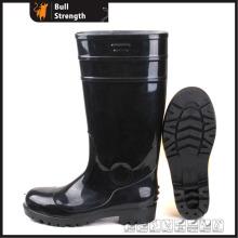 Ganz schwarzem PVC Regen Sicherheitsstiefel mit Stahlkappe (SN5126)