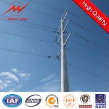 Linha de transmissão torre de 33kv de aço de polo para o projeto