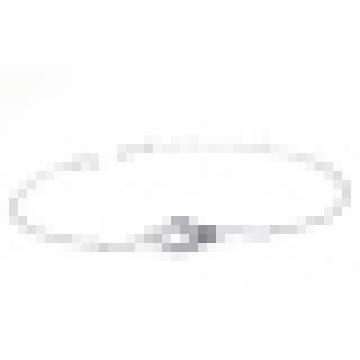 Pulsera de hebilla de plata del anillo doble de la plata esterlina 925 de las mujeres