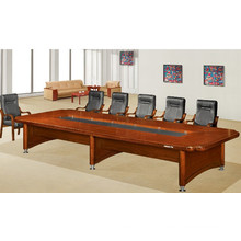 Rectangle U Shaped Solid Wood Middle Hole Conference Table