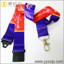 High quality polyester 2 layers screen lanyard