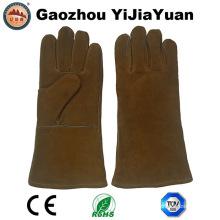 Anti corte industrial soldadores de couro trabalho luvas com Ce