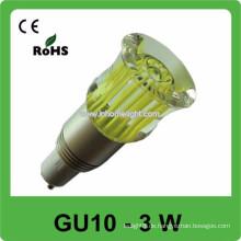 CE & ROHS 3w AC 85v-265v RGB führte Punktlicht gu10 Birne, 3 Jahre Garantie
