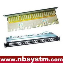 "24 portas STP Cat6 Patch Panel 19 ""1U, LSA IDC"