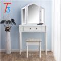 зеркало в ванной набор туалетный столик белый макияж столик организатор