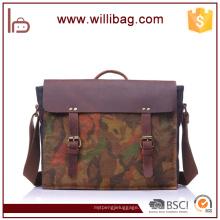 La bolsa de asas del camuflaje / la bolsa de mensajero / los bolsos de hombro para el cuero genuino de los hombres