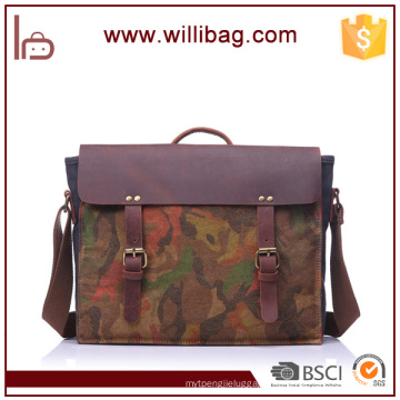 Camouflage Tote Bag/Messenger Bag/Shoulder Bags For Men Genuine Leather