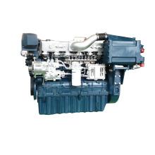 pequeño motor diesel marino interior Weichai motor diesel marino con caja de cambios