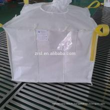 sac jumbo déconcerté pour le matériel pulvérulent, bon marché pp tissé FIBC déflecteur grand sac pour la récolte