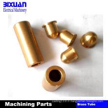 Le cuivre de pièces de cuivre partie la pièce de usinage de commande numérique par ordinateur de partie de usinage en laiton