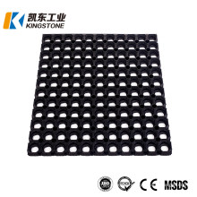 1mx1mx12mm Anti Slip Honeycomb Rubber Ring Mats for Grass Flooring