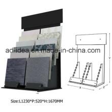 Stand de exposição de metal durável para telha