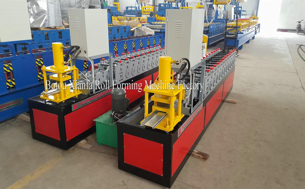 shutte door bottom frame machine