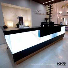 Comptoir de réception commercial, réception moderne