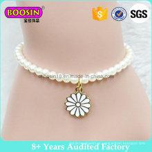 Moda imitação de pérolas banhado a ouro Daisy charme pulseira # B108