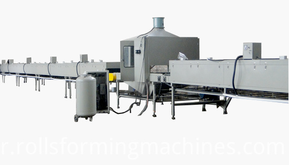 Stone Chip Coated Roof Tile Machine with Slitting Line