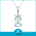 AAA atacado colar de diamantes ródio colar jóias (J-0121N)