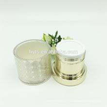 Frascos acrílicos luxuosos do ouro 30g 50g para o creme cosmético