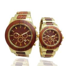 Reloj de pulsera de alta calidad del reloj de madera del reloj de bambú de Hlw096 OEM de los hombres y de las mujeres