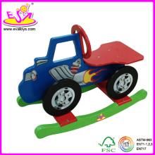 2014 Nouveau cheval à bascule en bois pour enfants, jouet populaire à cheval à bascule pour enfants, joli jouet en bois à bascule pour bébé W16D004