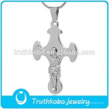De alta qualidade grande cruz pingente para colar de corrente de aço inoxidável 316 oração de jesus são bento crucifixo cruz colar