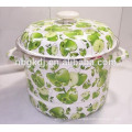 portable facial enamel high steamer with full decal