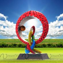 Zeitgenössische Landschaftsgarten-Designmetallhandwerkskulpturen für Verkauf