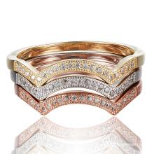 Кольцо каменного кольца CZ Камень стерлингового серебра
